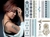 Temporary Metallic Tattoos Pack (Set of 4 Sheets) (Style 3) by BG247