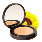 Concealer Cream Under Eye & Face Makeup - All Natural, 88% Organic, Vegan, Gluten Free, No Animal Cruelty, No Toxic Chemicals, Safe for Sensitive Skin - Medium Warm, Honey Beige - Flawless
