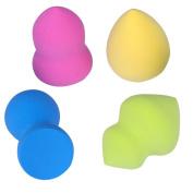 AUSKY 4PCS-PACK Cosmtic Makeup Liquid Cream Sponges Beauty Blender Face Puff Sponges