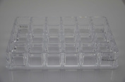 FunLand Clear Transparant 24 Spaces Acrylic Lipstick Organiser & Beauty Care Holder & Cosmetic Organiser & Jewellery Holder