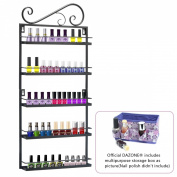 Dazone® Metal Nail Polish Essential Oils Mountable 5 Tier Organiser Display Rack