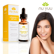 Nu Yuu THE BEST Vitamin C Serum For Your Face - Organic Vitamin C + Amino + Hyaluronic Acid Serum - Clinical Strength Anti-Ageing Formula 20% Vitamin C Leaves Your Skin Feeling More Youthful And Invigorated., Size 30ml