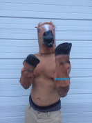 KINGMYS@ Novelty Creepy Horse halloween mask extremely funny jokes masquerade scary masks latex Rubber Costume Theatre Prop Party