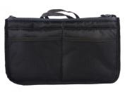 Lady Double Zipper Closure Cosmetic Case Makeup Storage Bag