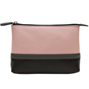 Leather Colorblock Cosmetic Make-up Case