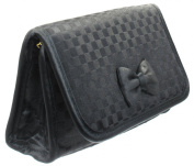 Lipstick Case with a Mirror (Extra Small Cosmetic Bag), Holds only 2 Lipsticks, Satin Fabric