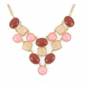 Exquisite Gold Tone Beads Statement Necklace