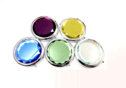 Purse Handbag Double Compact Cosmetic Mirror with Crystal Stainless By Invictus Pub