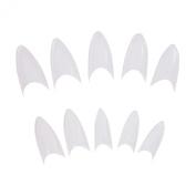 Xx Shop 500 Pcs Clear Stiletto Acrylic False Artificial Tips Nail Art