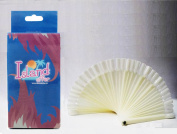 White Fan-shaped False Fake Nail Art Tips Sticks Polish Gel Salon Display Chart Practise Tool