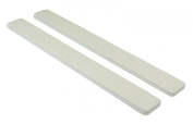 White 80/80 (Wht Ctr) Square End Nail File 50 Pack by Jaylie