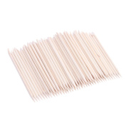 Z ZTDM 100 Pcs Nail Art Orange Wood Wooden Stick Cuticle Pusher Remover Manicure Pedicure Tool