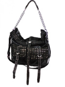 Zzfab Women Fashion Handbag Large Satchel Cross Body Bag with Tassle