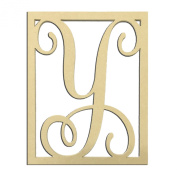 36cm Y Monogram Capital Letter Unfinished DIY Wood Craft To Sell Ready to Paint Wood Wooden Cutout