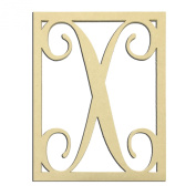 36cm X Monogram Capital Letter Unfinished DIY Wood Craft To Sell Ready to Paint Wood Wooden Cutout