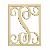 36cm S Monogram Capital Letter Unfinished DIY Wood Craft To Sell Ready to Paint Wood Wooden Cutout