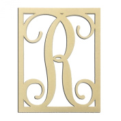 36cm R Monogram Capital Letter Unfinished DIY Wood Craft To Sell Ready to Paint Wood Wooden Cutout