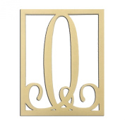 36cm O Monogram Capital Letter Unfinished DIY Wood Craft To Sell Ready to Paint Wood Wooden Cutout