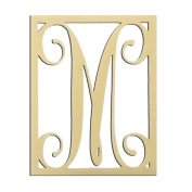 36cm M Monogram Capital Letter Unfinished DIY Wood Craft To Sell Ready to Paint Wood Wooden Cutout