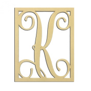 36cm K Monogram Capital Letter Unfinished DIY Wood Craft To Sell Ready to Paint Wood Wooden Cutout