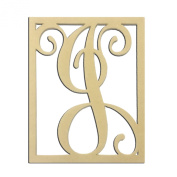 36cm J Monogram Capital Letter Unfinished DIY Wood Craft To Sell Ready to Paint Wood Wooden Cutout