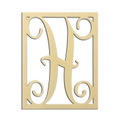 36cm H Monogram Capital Letter Unfinished DIY Wood Craft To Sell Ready to Paint Wood Wooden Cutout