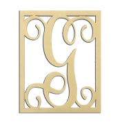 36cm G Monogram Capital Letter Unfinished DIY Wood Craft To Sell Ready to Paint Wood Wooden Cutout