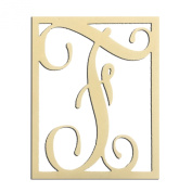 36cm F Monogram Capital Letter Unfinished DIY Wood Craft To Sell Ready to Paint Wood Wooden Cutout