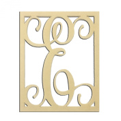 36cm E Monogram Capital Letter Unfinished DIY Wood Craft To Sell Ready to Paint Wood Wooden Cutout