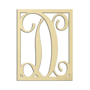 36cm D Monogram Capital Letter Unfinished DIY Wood Craft To Sell Ready to Paint Wood Wooden Cutout