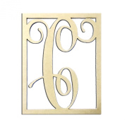 36cm C Monogram Capital Letter Unfinished DIY Wood Craft To Sell Ready to Paint Wood Wooden Cutout