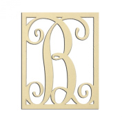 36cm B Monogram Capital Letter Unfinished DIY Wood Craft To Sell Ready to Paint Wood Wooden Cutout
