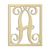 36cm A Monogram Capital Letter Unfinished DIY Wood Craft To Sell Ready to Paint Wood Wooden Cutout