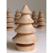 MyCraftSupplies Unfinished Wood 3D Christmas Tree 7cm Tall Set of 5