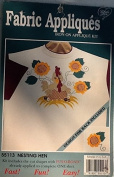 Nesting Hen Fabric Iron on Applique Kit 55113