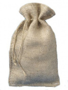 15cm X 25cm Burlap Bags with Drawstring - Lot of 10