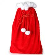 Velvet Santa's Gift Sack with Cord Drawstring by Arad