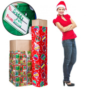 2 XL Christmas Holiday Gift Bags For Big Presents Set Tags Santa Christmas Lot