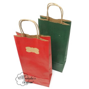 18 ct Wine Paper Gift Bags with Gift Tag Stickers