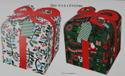 Meri Meri Merry & Bright - 4 Gift Boxes with Matching Tissue Paper - 15cm X 15cm X 20cm
