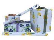 Artist Printed Wrapping Paper on White Kraft Canvas, 80cm x 4.6m, 2 Rolls, by Sean Mark Roberts