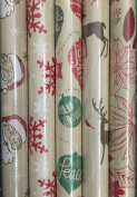 Christmas House Kraft Wrapping Paper Bundle