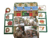 Christmas Gift Wrap & Gift Tag 3 Item Bundle- Includes (1) 12 Sheet, (2) 18 Ct. Gift Tags