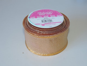 RibbonSense Bronze Foil Pattern 5.8cm . x 2.7m 100% Polyester Ribbon - Great for Any Occasion!