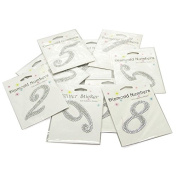 Self Adhesive Diamond Glitter Numbers 0-9
