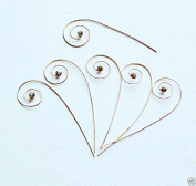 20 Clear Crystal Gold plated Swirl Pin Stem for Bouquet Jewellery Wedding Cake Topper Decoration. USA AC016
