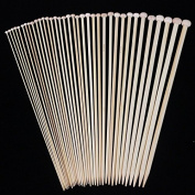 "Celine lin 18 sizes(32PCS) 10inch""(25CM) Bamboo Single Pointed Knitting Needles"