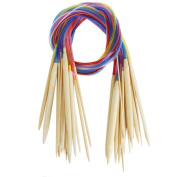 """Celine lin 18 sizes 40 inch""""(100cm)Colourful Circular Bamboo Knitting Needles"""