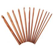 "Celine lin 12 sizes 6inch""(15CM) Carbonised Bamboo Crochet Hooks Knit Craft Knitting Needle Weave Yarn"