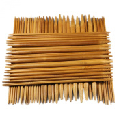Celine lin 15 sizes 8inch''(20CM)Carbonised Double Pointed Bamboo Knitting Needle US 0-15